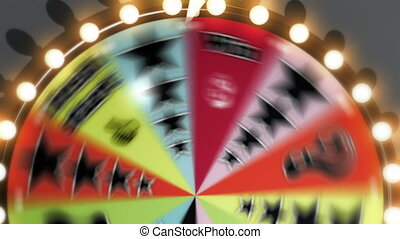 Spinning Wheel Slots 4K - Three clips of a generic game show...