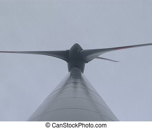 Spinning windmill propeller