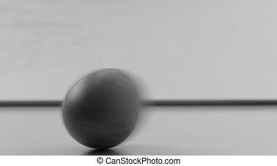 Spinning wooden egg