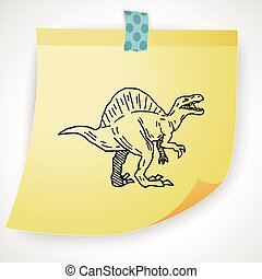 Spinosaurus dinosaur doodle