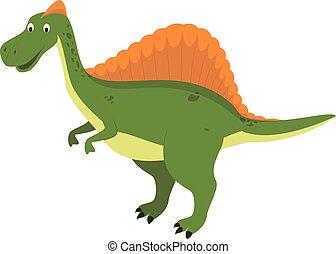 Spinosaurus vector illustration in cartoon style for kids. Dinosaurs Collection.