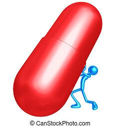 spinta, gigante, pillola