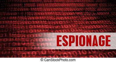 spionage, garanti, advarsel