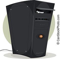 spionere, øjne, computer, min, desktop