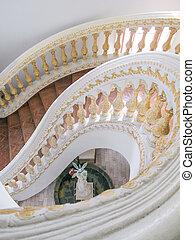 spirál, lépcsőfok