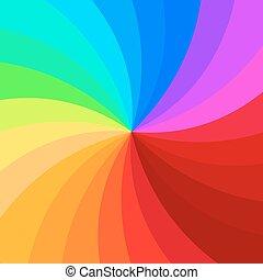 spirál, színes