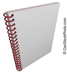 spiraal bond vast, boeken dek, aantekenboekje, journaal,...