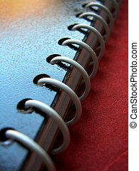 Spiral 06 - A close shot showing spiral binding on the diary...