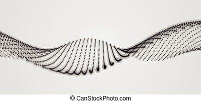 Spiral. 3d Vector Illustration. Dynamic Background. -...