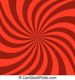 Spiral abstract background - vector graphic design from rotated rays