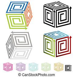 Spiral Arrow Boxes