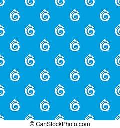 Spiral arrow, design element pattern seamless blue