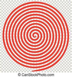 spiral., astratto, ipnotico, vortice, rotondo, rosso