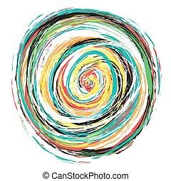 spiral background, grunge splash