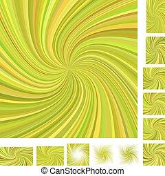 Spiral background set