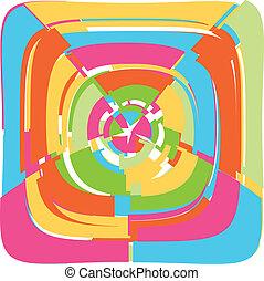 Spiral background vector illustrati