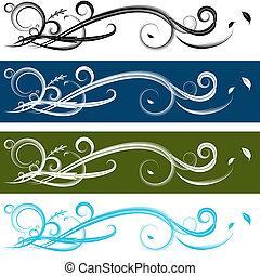 Spiral Banner Set