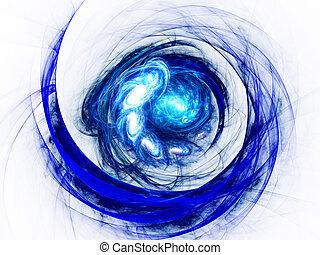 spiral., barva, umění, abstraktní, grafické pozadí