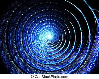 spiral., barwa, sztuka, abstrakcyjny, tło
