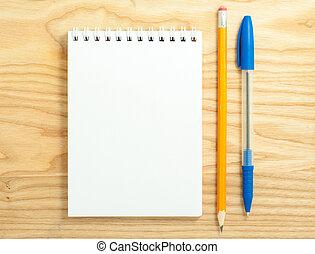 Spiral blank notebook