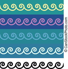 Spiral borders