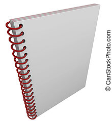 Spiral Bound Book Cover Notebook Journal Blank Copy Space