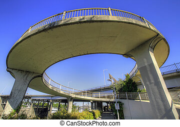 Spiral Bridge Walkway - Spiral Walkway to Eastbank Esplanade...