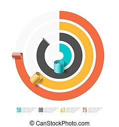 Spiral business chart template
