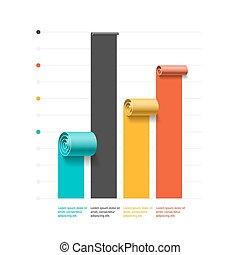 Spiral business graph template