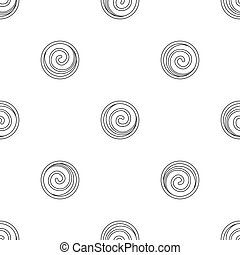 Spiral cake icon, outline style