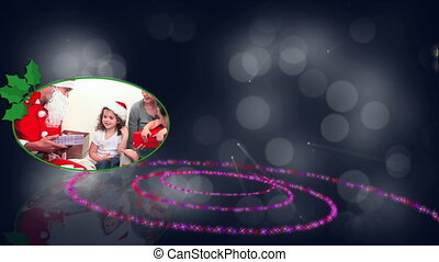 Spiral christmas animation - Spiral and family christmas...
