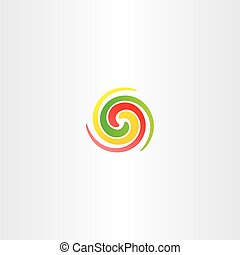 spiral circle colorful business abstract logo icon