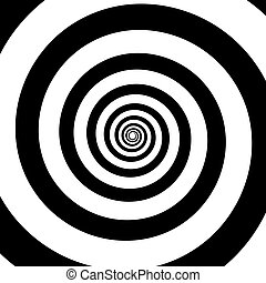 Spiral color black on the white background.