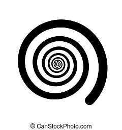 Spiral color black on the white background. Vector...