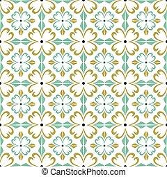 Spiral cross flower seamless background image.