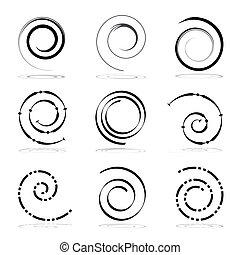 Spiral design elements.