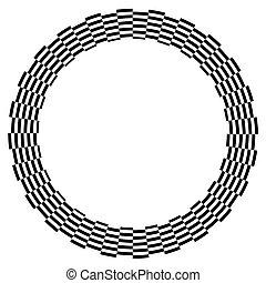 Spiral Design Illusion Frame