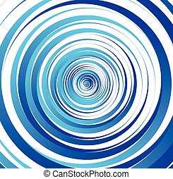 Spiral element, concentric circles with brush strokes