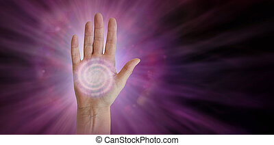Spiral Energy Chakra Centre in Palm of Hand