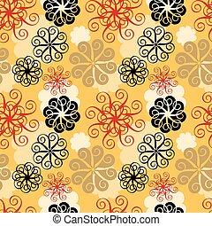 Spiral Flower Pattern in Yellow