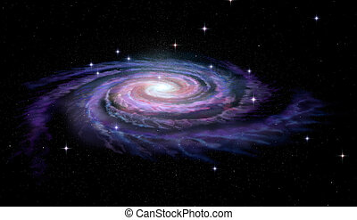 spiral galax, vintergatan
