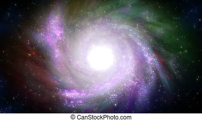 Spiral galaxy. - Abstract space animation with spiral...