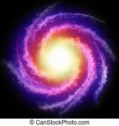 spiral galaxy background