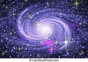 Spiral galaxy - Big spiral galaxy in far star space