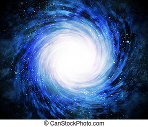 spiral galaxy in space