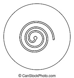 Spiral icon black color in circle vector illustration isolated