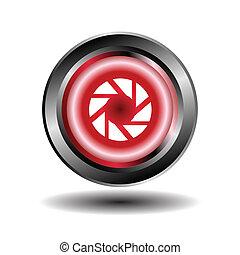 Spiral icon vector glossy symbol