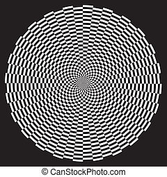 Spiral Illusion Design Pattern - White on black circle...