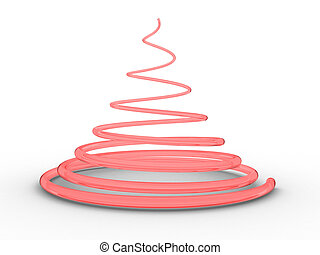 Spiral - Illustration of a spiral in the form of a tree on a...