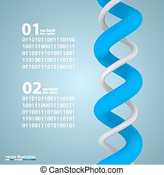 Spiral infographic elements with numbers. Vector...
